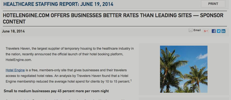 HotelEngine.com Offers Businesses Better Rates Than Leading Sites