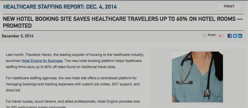 New Hotel Booking Site Saves Healthcare Travelers Up to 60% on Hotel Rooms