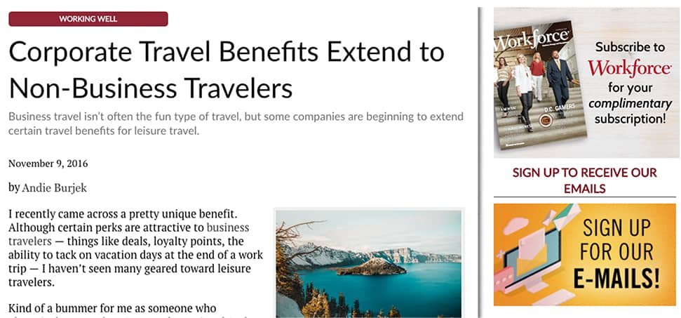 Corporate Travel Benefits Extend to Non-Business Travelers